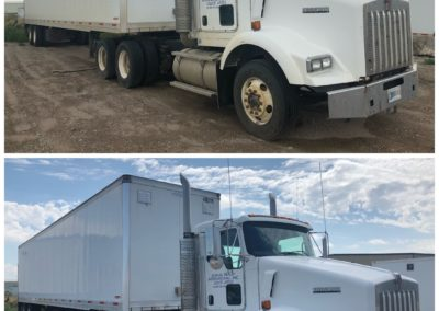 Truck and Trailer Before and After